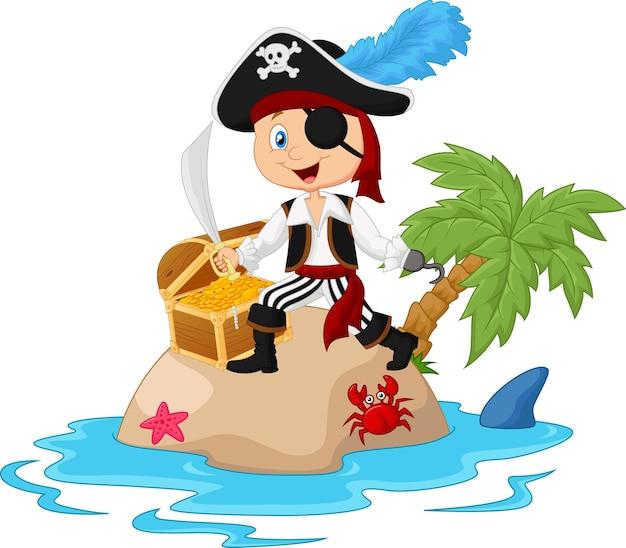 Pirate dans l'île au trésor