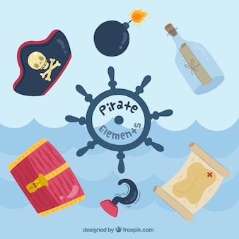 Pirate elements funny design