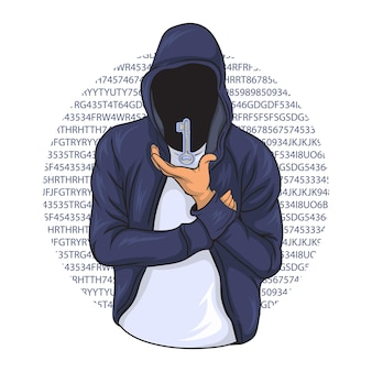 Un pirate essayant de déverrouiller divers codes