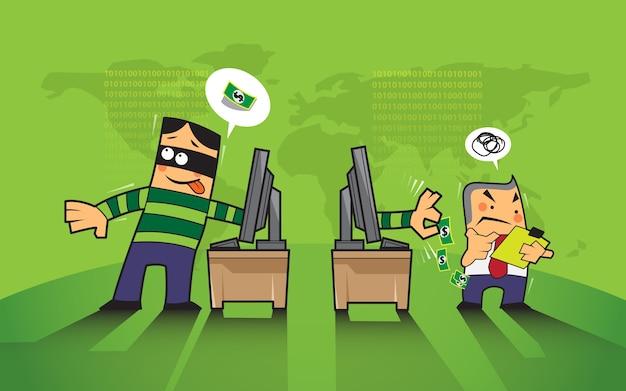 Pirate et hameçonnage sur internet.