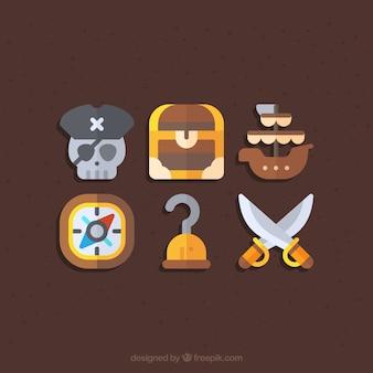 Pirate icon set