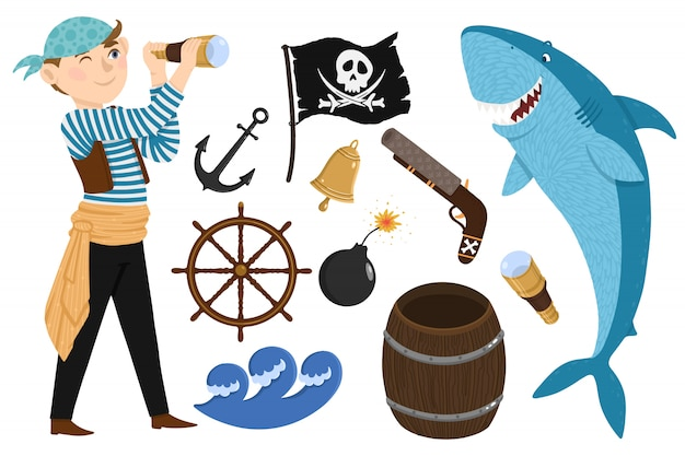 Pirate mis en style cartoon