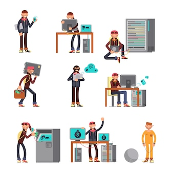 Pirates informatiques piratant des comptes bancaires.