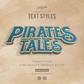 Pirates tales style de texte