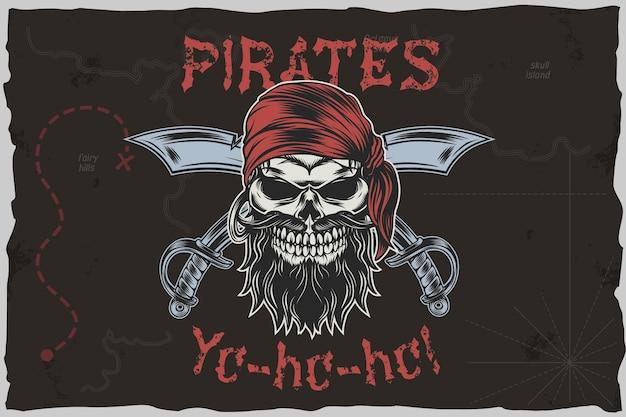 Pirates yohoho - illustration vectorielle de tshirt.