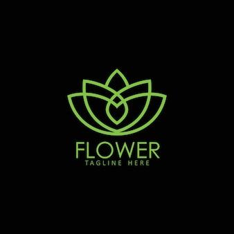Pissenlit fleur logo icône modèle conception illustration vectorielle