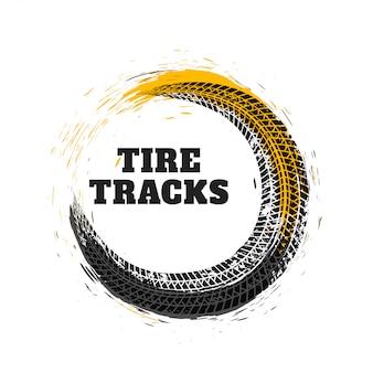 Piste de pneu dans le style de cercle