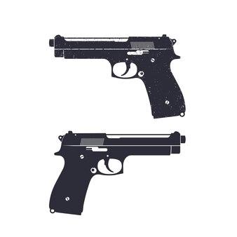 Pistolet moderne avec texture grunge