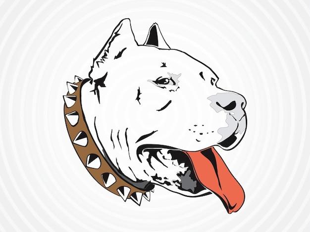 Pit bull dog vecor domestiqué