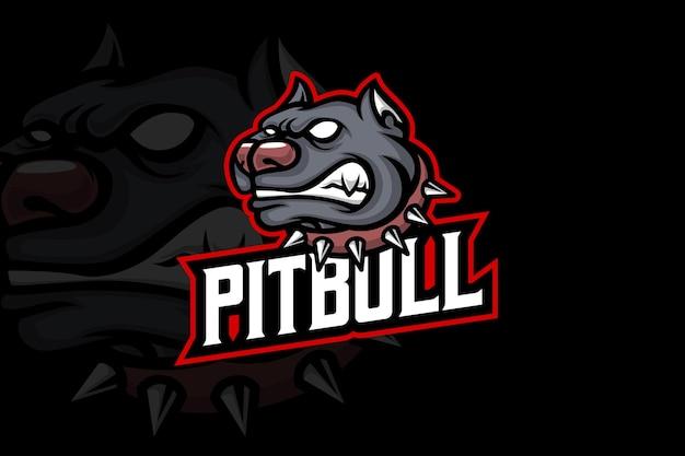 Pitbull - modèle de logo esport