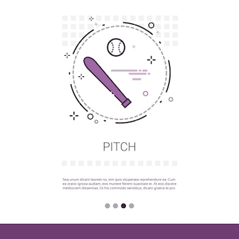 Pitch bat sport game web banner