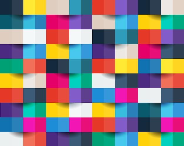 Pixel abstrait coloré