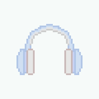 Pixel art du casque bleu