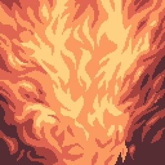 Pixel art du feu