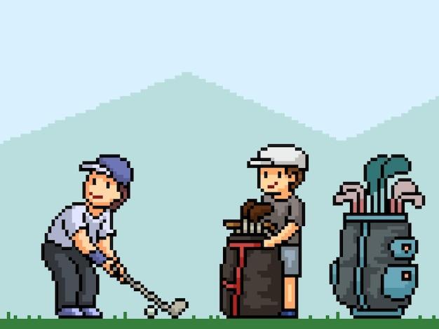 Pixel art du sport de club de golf