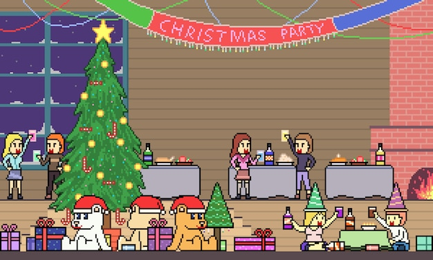 Pixel art fête de noël