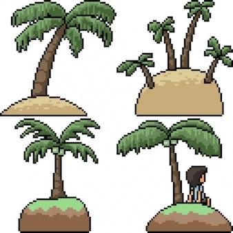 Pixel art isolé palm island