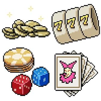 Pixel art set jeu de pari isolé
