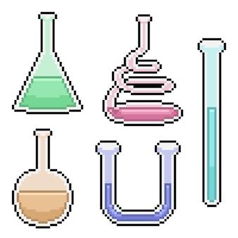 Pixel art de tube à essai scientifique