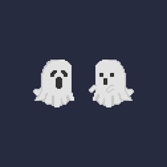 Pixel double fantôme d'halloween