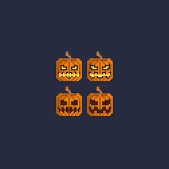 Pixel halloween citrouille