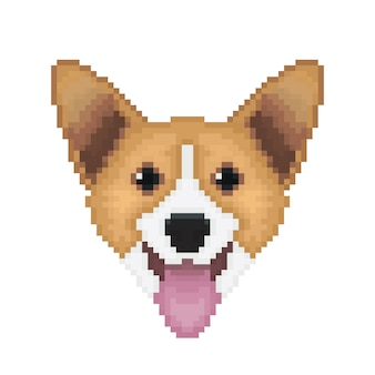 Pixel pembroke welsh corgi chien.