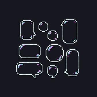 Pixel speech bubble.8bit.
