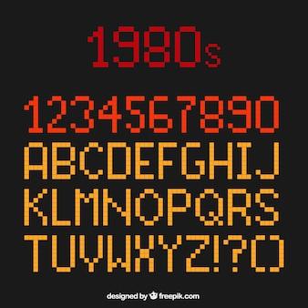 Pixel typographie