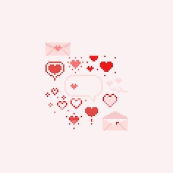 Pixel valentine elements