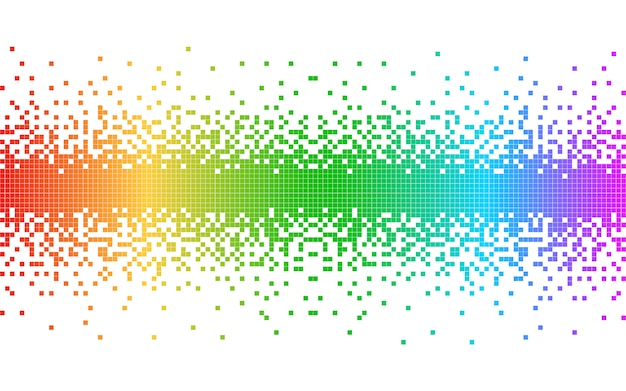 Pixels colorés abstraits