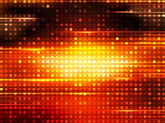 Pixels dorés brillants, fond d'effet de pépin. fond de lumières musicales ou disco.