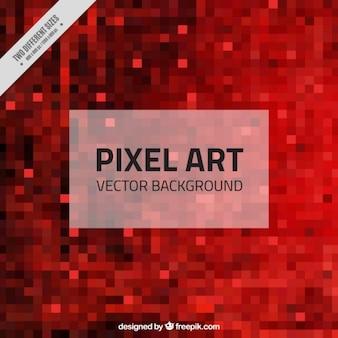 Pixels rouges fond