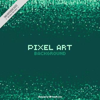 Pixels verts fond