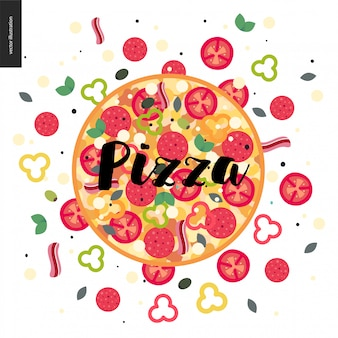 Pizza colorée