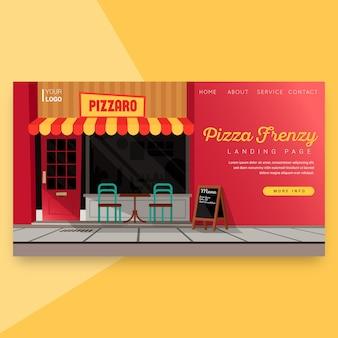 Pizza fast food restaurant page de destination