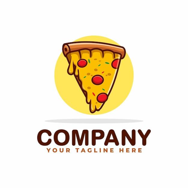 Pizza avec logo de fromage fondu