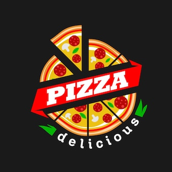 Pizza logo vecteur