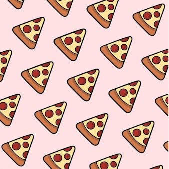 Pizza motif fond médias sociaux post illustration vectorielle