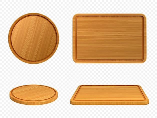 Pizza et planches à découper en bois