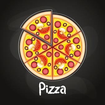Pizza sur le plateau