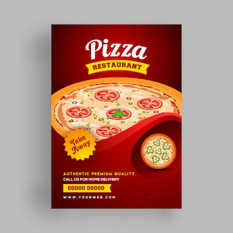 Pizza restaurant menu, modèle de flyer.