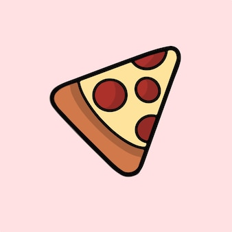 Pizza symbole médias sociaux post illustration vectorielle