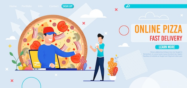 Pizzeria en ligne avec page de livraison rapide