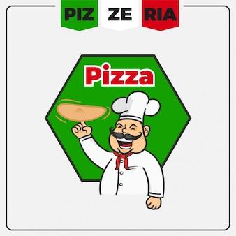 Pizzeria logo modèle