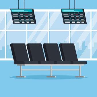 Place de l'aéroport chaises place