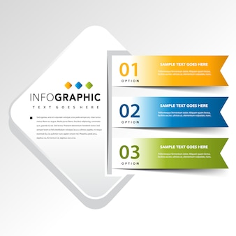 Place de l'infographie avec 3 illustration vectorielle de bannière