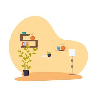 Place lieu scène icône isolé vector illustration design