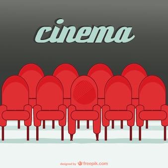 Places de cinéma vecteur ligne