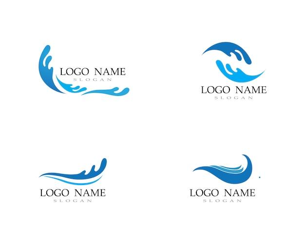 Plage eau vague logo