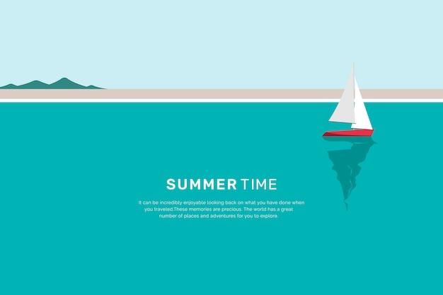 Plage d'été